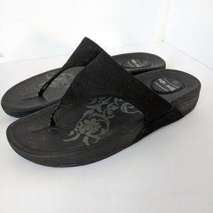 Skechers Tone-Ups Black Flip Flop Sandals 11